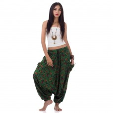 Harem Aladdin Pants Green
