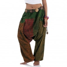 Hippie Harem Jeans Brown-Red-Green