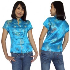 Light blue Traditional Chinese Top QLGL3-34