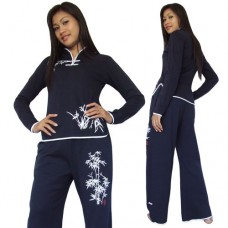 Navy Blue Women Kung Fu Suit