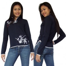 Women Chinese top in Navy Blue