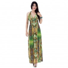 Long Summer Maxi Dress Green