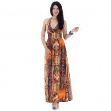 Long Summer Maxi Dress Brown