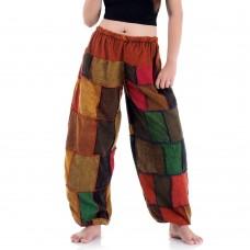 Patchwork Genie Pants, Harem Pants FAB686
