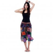 Patchwork  Harem Short Pants