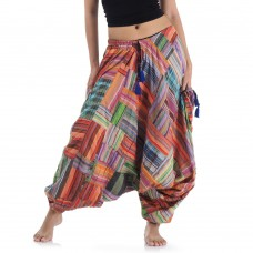 Patchwork Harem Pants FAS571
