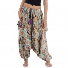 Patchwork Harem Pants FAS572