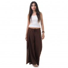 Palazzo Yoga Wrap Pants Brown