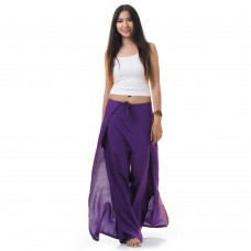 Palazzo Yoga Wrap Pants Purple