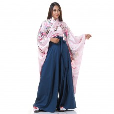 Woman Samurai Costume Rose-Blue