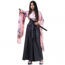 Woman Samurai Costume Rose-Grey