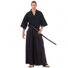 Kendo Samurai Costume Dark Brown-Black