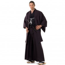 Japanese Samurai Kimono Set 3 pieces ฺDark brown