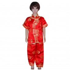 Boy Chinese Costumes Gold PKR9