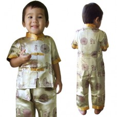 Boy Chinese Costumes Gold