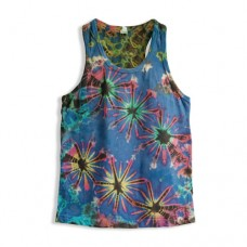 Hippie Tie Dye Sleeveless T-shirt for Kids RKM1