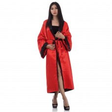 Japanese Reversible Satin Kimono Robe for Women