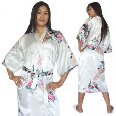 Japanese Satin Kimono Robe for Women
