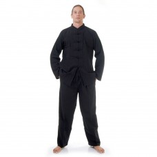 Kung Fu Suit, Meditation Suit Cotton Black