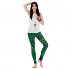 Tie dye batik leggings Pants Green