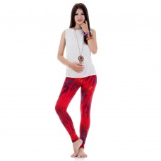Tie dye batik leggings Pants Red