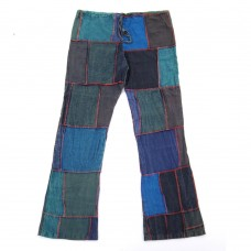 Patchwork Bell bottom Pants S 401