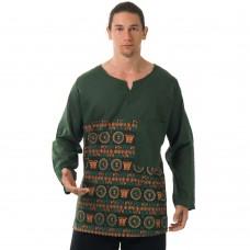 Hippie Casual Long Sleeve Patchwork Shirt