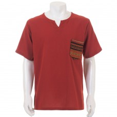 Red Hippie Casual Short Sleeve Shirt