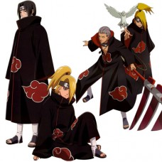 NARUTO Akatsuki Ninja Wind Coat Cosplay Costume