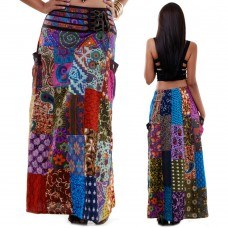 Hippie Bohemian Gypsy Silk Skirt