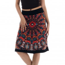 Knee A-line  skirt KP296