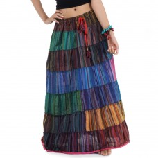 Patchwork Long Skirt Bohemian Style  KP310