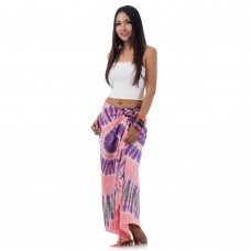 Rose Tie Dye Sarong Pareo Cover Up