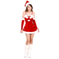 Christmas Costume Mrs Santa Claus dress X-S003
