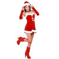 Christmas Costume Mrs Santa Claus dress X-S018