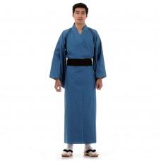 Men's Yukata Kimono Cotton Blue