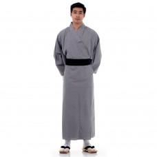 Men's Yukata Kimono Grey