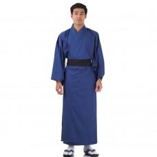 Japanese Men's Yukata Kimono Blue XKM106