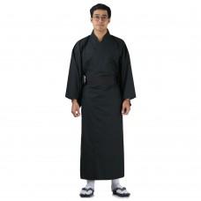 Japanese Men's Yukata Kimono Black XKM107