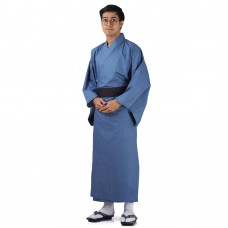 Japanese Men's Yukata Kimono Blue XKM108