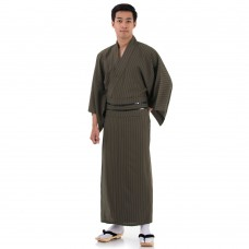 Japanese Men's Yukata Kimono Brown XKM115-Yukata