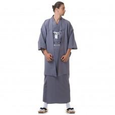 Japanese Samurai Kimono Set Grey