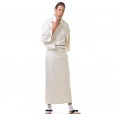 Japanese Men's Yukata Kimono White