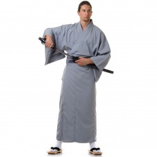 Men's Yukata Kimono Light grey