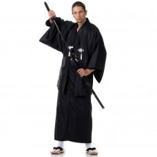 Japanese Samurai Kimono Black Set