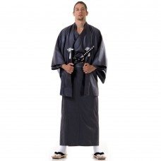 Japanese Samurai Kimono Dark Grey