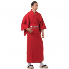 Japanese Men's Yukata Kimono Red