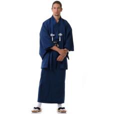 Japanese Samurai Kimono Blue Set