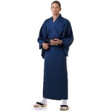 Japanese Men's Yukata Kimono Blue