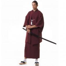 Japanese Samurai Kimono Set Claret Red